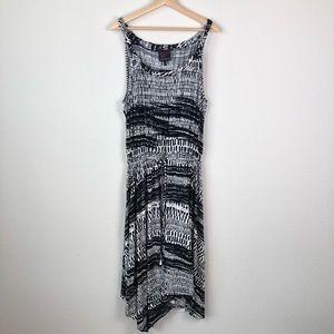 Carson Kressley Black & White Printed Dress